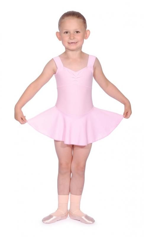 Official BBO Dance Blue Sleeveless Skirted Leotard for Pre//Primary Tap